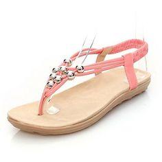Appartamento Heel vibrazione donna in similpelle cadute sandali con strass scarpe (più colori) – EUR € 12.37
