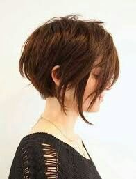 A-line bob with shorter pieces at very front