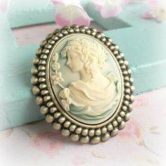 Grecian Cameo Brooch Pale Green Ivory Lady Profile by TheLocketBox, $19.00 Grecian Wedding, Cameo Jewelry, Fun Things, Beautiful Things, Ivory, Profile, Brooch, Lady, Green