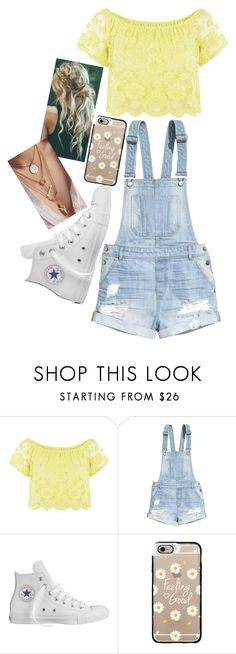 """Untitled #4"" by hollywoodsdead ❤ liked on Polyvore featuring H&M, Converse, Casetify and N.Y.L.A."
