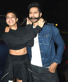 Varun Dhawan and Jacqueline Fernandez at the DVD launch of Dishoom. #Bollywood #Fashion #Style #Beauty #Hot #Sexy