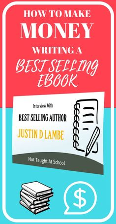 How to make money writing - Today we interview best selling author Justin. He shares his best tips for anyone wanting to write a book right now.  If you have thought about writing a book or what is involved in the process and also how to make money then thins interview will give you some great tips, click here to read in full.