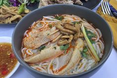 Duck and bamboo vermicelli noodle soup or bún măng vịt is a permanent fixture at my parent's weekend dinners. This simple and rich vermicelli soup is a dish that one will not find at a resta…