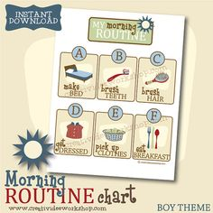 Afternoon Routine Chart for Children, Printable, P Morning Routine Printable, Morning Routine Chart, After School Routine, School Routines, Kids School Organization, Online Fun, Cleaning Toys, Girl Themes, Do Homework