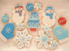 Christmas cookie inspiration—love this color scheme