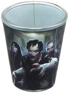 The Walking Dead Shot Glasses 4 pack Symbols new Official White Boxed 2oz