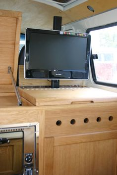 VW camper interior by All Things Timber. My Daisy would enjoy this improvement. See her on Instagram at tilly2054