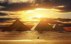 Les grandes pyramides, Egypte