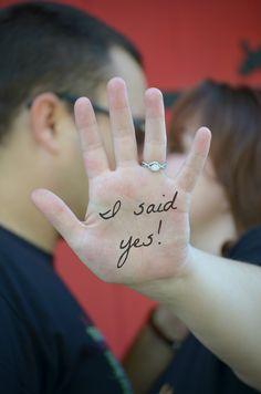 """#BethBarbisPhotography #engagementphotos engagement photos """"I said Yes!"""""""