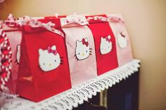 Little Big Company | The Blog: Red, pink & White Hello Kitty 9th Birthday Party by Couture Crafts