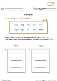 Literacy: Spellings 13   Worksheet   PrimaryLeap.co.uk Spelling Worksheets, Literacy Worksheets, Printable Worksheets, Year 1 English Worksheets, Free Worksheets For Kids, Primary Resources, Progress Report, High Frequency Words, Kids Learning