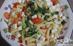 Паста со сливочным соусом из порея и шпината  | Кулинарные рецепты от «Едим дома!»