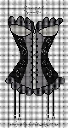 Free Corset Cross Stitch Pattern