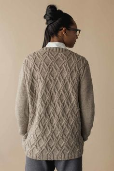 2a318e6131cb3 Absolutely love the gorgeous interlocking cables on the Frederick Cardigan  from Wool Studio Volume III
