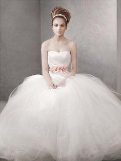 Beautiful Princess dress... Vera Wang at David's Bridal :) Love this!!!.. if only the flowers were yellow.