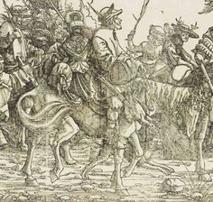 1512 (commissioned) ca. 1516 - 1519 (made) Burgkmair, Hans, born 1473 - died 1531 (artist) Triumph of the Emperor Maximilian I | Maximilian I, Holy Roman Emperor |  DETAIL  © Victoria and Albert Museum, London.