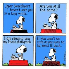 Snoopys love letter