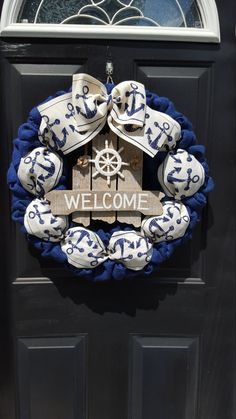 Hey, I found this really awesome Etsy listing at https://www.etsy.com/listing/224920548/burlap-wreath-nautical-wreath-anchor