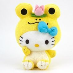 Hello Kitty Plush: Yellow Frog *** Click image to review more details.(It is Amazon affiliate link) #like4like