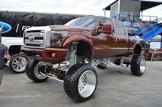 New post on shitty-car-mods-daily Lifted Cars, Lifted Chevy, Ford Pickup Trucks, Chevy Trucks, Cool Trucks, Big Trucks, Tundra Truck, Lifted Tundra, Ford Powerstroke