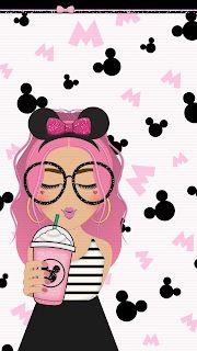 Minnie Mouse Starbucks Girl Home Screens/Lock Screens
