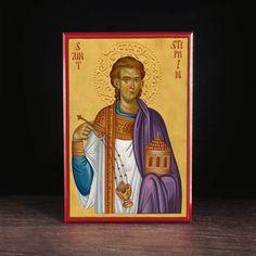 Stephen the Protomartyr (XXIc) Icon - - Legacy Icons Saint Stephen, Catholic Saints, Persecution, Ikon, September, David, Christian, History, Cards