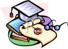 iCLIPART - Mortar Board and Diploma Clipart Image