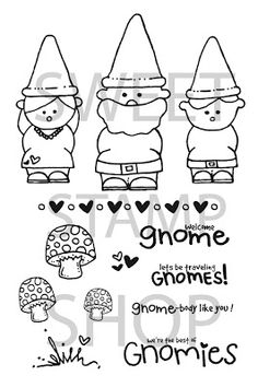 "Sweet Stamp Shop | ""Gnomies"" Retired Set Released 2011"