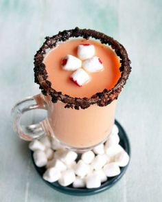 Spiked Pumpkin Pie White Hot Chocolate