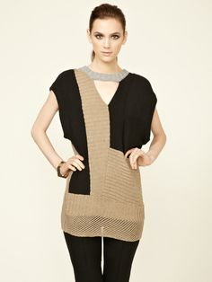 Knit Patched Pullover by Anagram by Gary Graham on Gilt.com