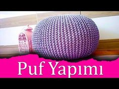 How to Crochet a Floor Pouf - YouTube