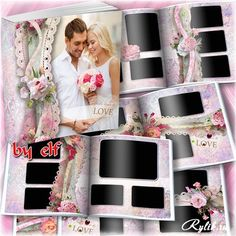 Романтическая фотокнига в розовых тонах - скачать шаблоны бесплатно