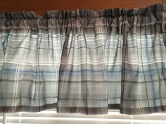 Gray Plaid Valance ~ 64 Inches Wide by CheriesSewCrafty on Etsy