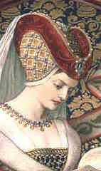 Heartshaped hennin as depicted in Clothing in the Middle Ages (Medieval World (Crabtree Hardcover)) By Lynne Elliott