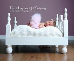 newborn portrait tutu bed