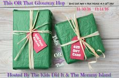 It is that time of the year again and I am thrilled to be a part of it for a second year in a row! It's time for the This OR That Giveaway Hop brought to you by our hosts The Mommy Island, an…