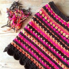 Haken en meer: bright crochet poncho