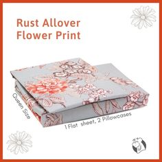Dress your bed with overall print with contrast pillow that adds a touch of subtle glamour to your bedroom, creating an inviting luxurious feel. Our Rust Allover Flower Print brings a splash of colour to your room, conjuring up antique floral prints. #balooworldotca #bedlinen #bedding #bedsheet #bedsheets #cottonbedding #cottonbedsheets #onlinebedding #beddingsets #beddingdecor #beddingstyle #flowerprint #beddingsheet #bedroomdecor #supportsmallbusiness #balooworldbedsheets Leaf Coloring, Cotton Bedding, Bed Styling, Queen Size, Flower Prints, Flower Patterns, Bed Sheets, Color Splash, Light In The Dark