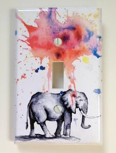 Elephant Decorative Light Switch Cover Plate Great by idillard, $9.00 -- of course I love this