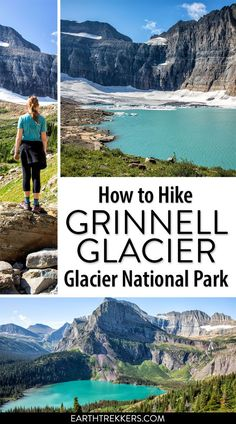 How to hike to Grinnell Glacier, one of the best hikes in Glacier National Park. You can shorten the hike by taking the boat shuttle across the lakes. Glacier National Park Montana, Glacier Park, West Glacier Montana, Montana Lakes, The Last Summer, National Parks Usa, Best Hikes, Travel Usa, Amigurumi