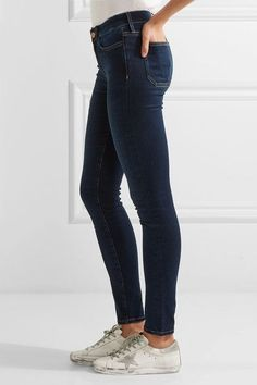 M.i.h Jeans - Bodycon Mid-rise Skinny Jeans - Dark denim - 24