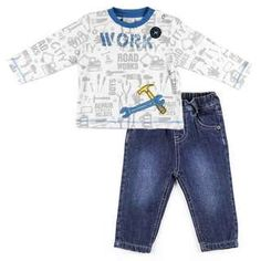 Set 2-teilig - Langarmshirt und Jeans