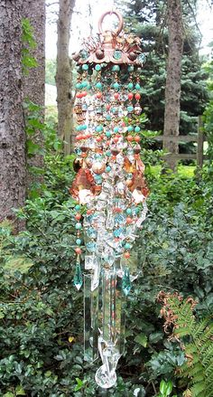 Desert Spirit Antique Crystal Wind Chime by sheriscrystals on Etsy, $184.95