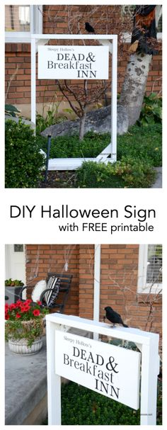 DIY Halloween sign with free printable from MichaelsMakers The Idea Room