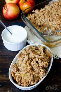 Apple Crumble- easy delicious recipe with apples and oats crumble topping.