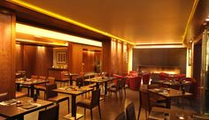 "#Yoshi  ""#Eyes on #Asia""  Yoshi is a contemporary casual and relaxed all day Asian dining experience for all occasions with a beautiful interior distinguished by wood paneled walls, banquet #seating, fine art, contemporary #fireplace, wood decked summer #terrace and brass & bamboo fittings."