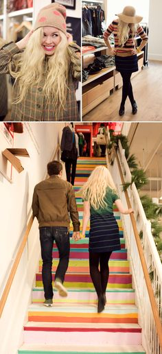 from designlovefest. wanna do this on the stairs in our home!!