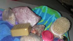 Bathing with crystals. Not a great picture but great information. :)