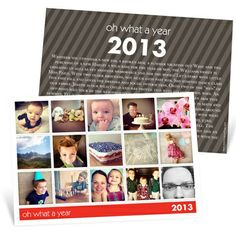 Photo Christmas Cards  -- Snapshots of a Year - If I do cards this year, this is what I'm doing!