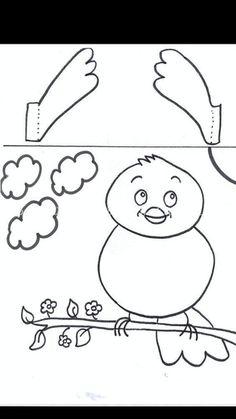 Easy Crafts, Diy And Crafts, Arts And Crafts, Preschool Art, Kindergarten Activities, Diy For Kids, Crafts For Kids, Paper Bag Crafts, Baby Applique